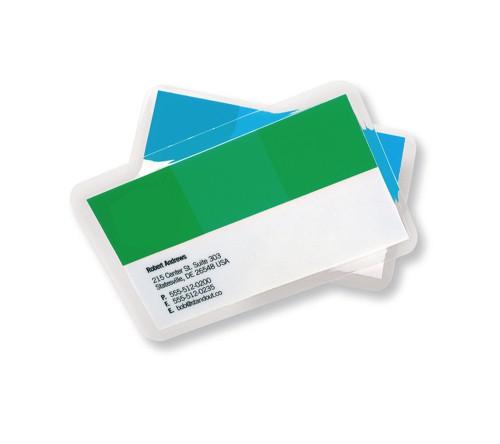 GBC Laminating Pouches Premium Quality 2x125 Micron Business Card 60x90mm Gloss Ref 3743157 [Pack 100]