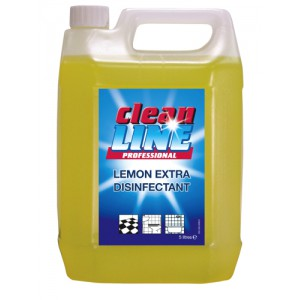 Cleanline Disinfectant Lemon Extra 5 Litres Pack 2