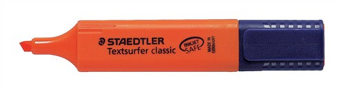 Staedtler Textsurfer Classic Highlighter Inkjet-safe Line Width 2.5-4.7mm Orange Ref 3644 [Pack 10]