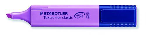 Staedtler Textsurfer Classic Highlighter Inkjet-safe Line Width 2.5-4.7mm Purple Ref 3646 [Pack 10]