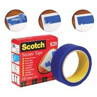 Scotch 820 Secure Tape Anti-Tampering 35mmx3Blue Ref 8203533