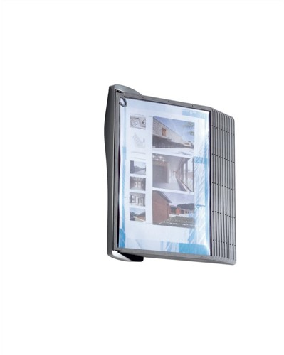 Durable Sherpa Style Display System Wall Unit Contoured with Fixings and 10 Panels A4 Ref 5841/00