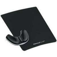 Fellowes Professional Fabric Palm Support Pad Microban Cushioned Gliding Black Ref 9180301