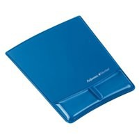 Fellowes Professional Crystal Gel Mouse Pad Wrist Rest Microban Cushioned Blue Ref 9182201