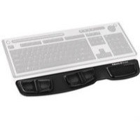 Fellowes Professional Crystal Gel Keyboard Palm Rest Microban Cushioned Black Ref 9183201