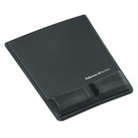 Fellowes Fabrik Mouse Pad/Wrist Support Graphite 9184001