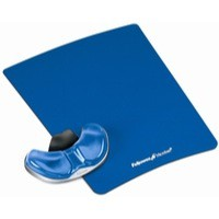 Fellowes Professional Crystal Gel Palm Support Pad Microban Cushioned Blue Ref 9180601