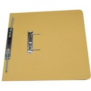 Guildhall Transfer Spring Files Heavyweight 420gsm Capacity 38mm Foolscap Yellow Ref 211/7003Z [Pack 25]