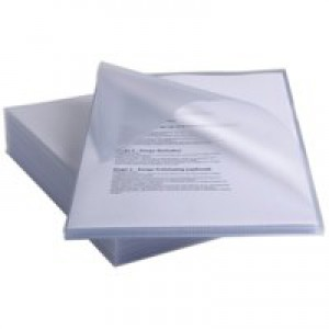 Rexel Anti Slip Folders Cut Flush Polypropylene High Grip 150micron Clear Ref 2102211 [Pack 25]