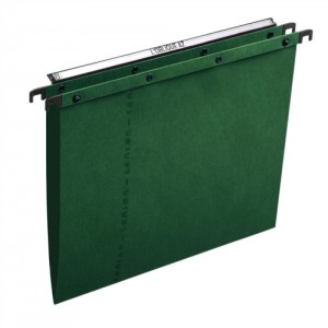 Elba Ultimate Suspension File Manilla Vertical 100sheet VBase Foolscap Green Ref 100330318 [Pack 25]