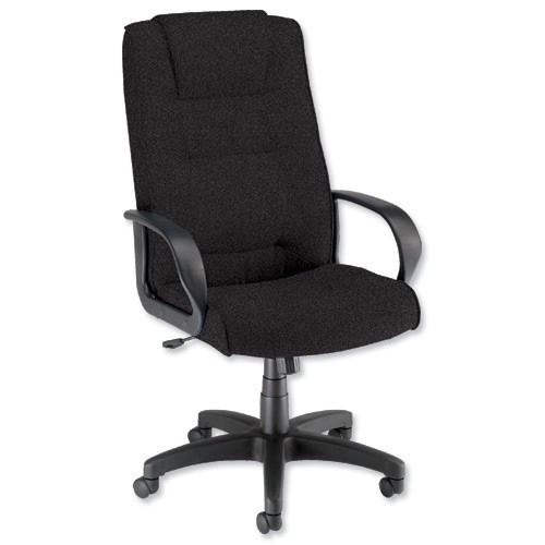 Trexus Intro Managers Armchair Back H720mm W530xD510xH470-570mm Charcoal Ref 10568-01