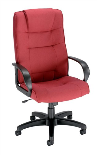 Trexus Intro Managers Armchair Back H720mm W530xD510xH470-570mm Claret Ref 10568-01