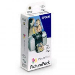 Epson T5570 Picture Pack Inkjet Cartridge Photo Colour + 135 Sheets Ref C13T557040