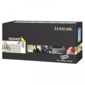 Lexmark C752 Return Programme High Yield Toner Cartridge Yellow 15G042Y