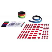 Image for Franken Planner Accessory Set with Nameplates Magnetic Strips Adhesive Tape and 4 Finemarkers Ref Z-JKP