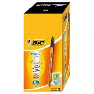 Bic Cristal Black Ballpoint Fine Pk50