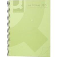 Q-Connect Green A5 Spiral Notepad Pk5