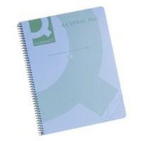 Q-Connect Blue Spiral A4 Notebook 160Pg