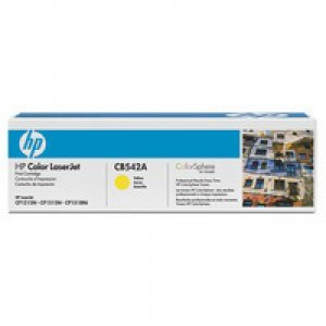 Hewlett Packard [HP] No. 125A Laser Toner Cartridge Page Life 1400pp Yellow Ref CB542A