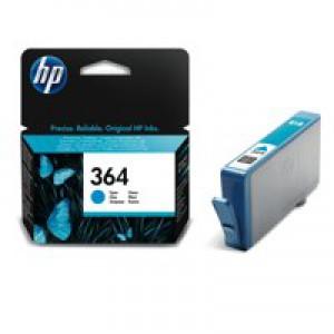 Hewlett Packard [HP] No. 364 Inkjet Cartridge Page Life 300pp Cyan Ref CB318EE