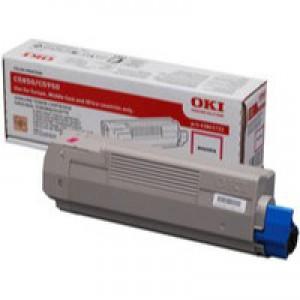 OKI Laser Toner Cartridge Page Life 6000pp Magenta Ref 43865722