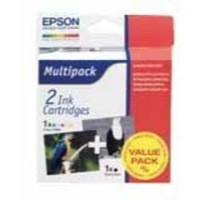 Epson T007/T008 Inkjet Cartridge Black/Colour Ref C13T00740310 [Pack 2]