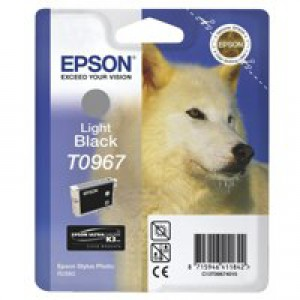 Epson T0967 Inkjet Cartridge UltraChrome K3 Husky Page Life 6210pp Light Black Ref C13T09674010