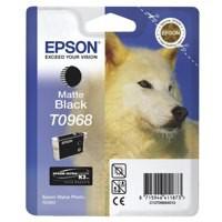 Epson T0968 Inkjet Cartridge UltraChrome K3 Husky Page Life 495pp Matt Black Ref C13T09684010