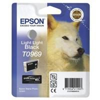 Epson T0969 Inkjet Cartridge UltraChrome K3 Husky Page Life 6055pp Light Light Black Ref C13T09694010