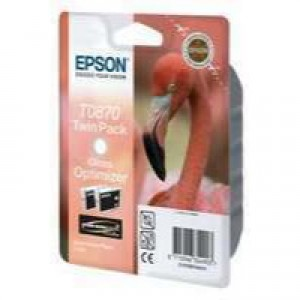 Epson T0870 Inkjet Cartridge UltraChrome Flamingo Page Life 3615pp Gloss Optimizer Ref C13T08704010