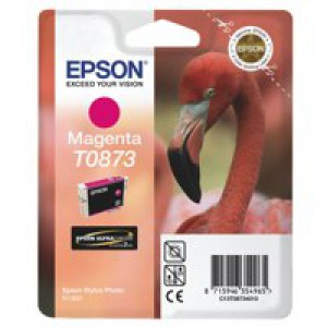 Epson T0873 Inkjet Cartridge UltraChrome Hi-Gloss2 Flamingo Page Life 890pp Magenta Ref C13T08734010