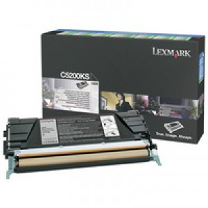 Lexmark Laser Toner Cartridge Return Program Page Life 1500pp Black Ref C5200KS
