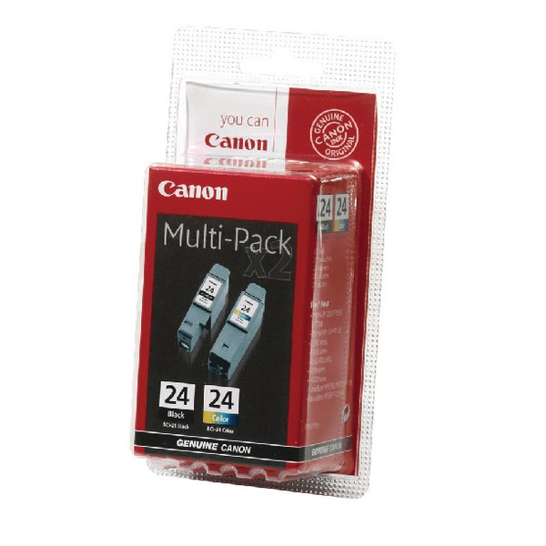 Canon Inkjet Cartridge BCI-24 Black/Colour Twin Pack