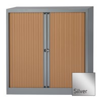 Bisley A4 EuroTambour Including 2 Shelves W1000xD430xH1030mm Silver Frame and Shutters Ref ET410/10/2SS