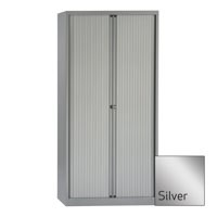 Bisley A4 EuroTambour Including 4 Shelves W1000xD430xH1980mm Silver Frame and Shutters Ref ET410/19/4SS