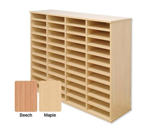 Tercel Post Room Sorter Hutch Multi-use Single Height 4 Bay Can Fit 24 Shelves W1280xD360xH638mm Beech