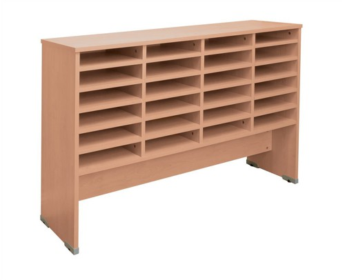 Tercel Post Room Sorter Base 4 Bay W1280xD360xH870mm Beech
