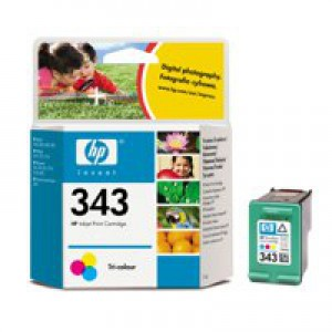 HP No.343 Inkjet Cartridge Tri-Colour Code C8766EE