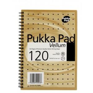 Pukka Pad Vellum Notebook Wirebound Perforated Ruled 80gsm 120pp A5 Vellum Ref VJM/2 [Pack 3]