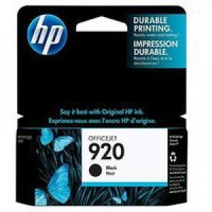 Hewlett Packard [HP] No. 920 Inkjet Cartridge Page Life 420pp Black Ref CD971AE