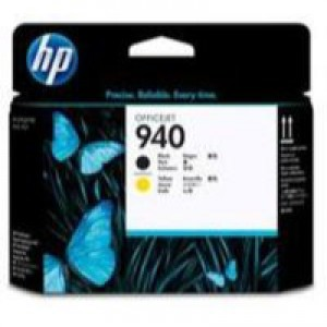 HP No.81 Printhead Black And Yellow Code C4900A