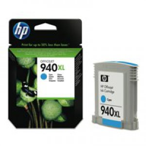 Hewlett Packard [HP] No. 940XL Officejet Inkjet Cartridge Page Life 1400pp Cyan Ref C4907AE
