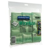Wypall Microfibre Cleaning Cloths for Dry or Damp Multisurface Use Green Ref 8396 [Pack 6]