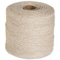 String Cotton Thin 125g 156m White [Pack 12]