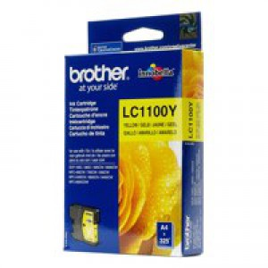 Brother Yellow Inkjet Cartridge Code LC-1100Y