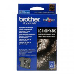 Brother High Yield Black Inkjet Cartridge Code LC-1100HYBK