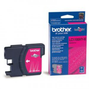 Brother High Yield Magenta Inkjet Cartridge Code LC-1100HYM