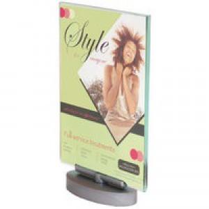 Deflecto A4 Swivel Sign Holder Clear DE691101