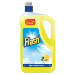Flash All Purpose Cleaner for Washable Surfaces 5 Litres Lemon Fragrance Ref VPGFLL5