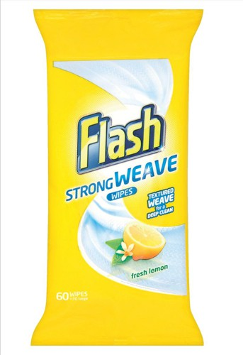 Flash All Purpose Cleaning Wipes Lemon Fragrance Ref VPGFAWL [Pack 120]